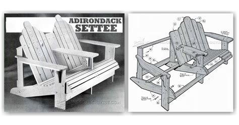 Adirondack Settee by Adirondack Settee Plans Woodarchivist