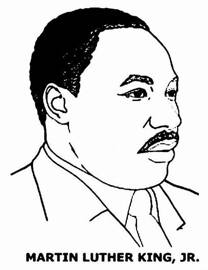 Luther Martin King Coloring Jr Mlk Pages