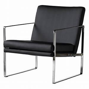 petit fauteuil cuir noir idees de decoration interieure With petit fauteuil en cuir