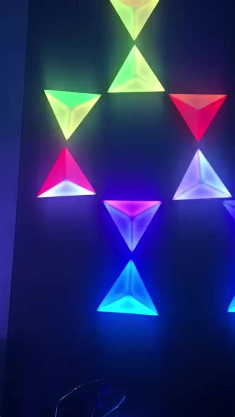 decorative ceiling wall triangle 3d effect color rgb changing led disco light buy ceiling