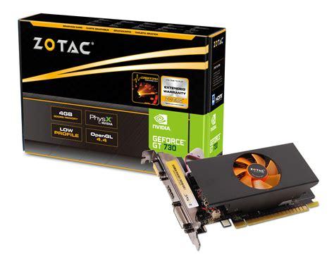 Geforce® Gt 730 4gb Ddr5  Zotac