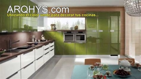 cocinas de color verde youtube