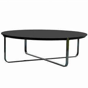 Table Basse Noir : table basse design ronde c1 noire pure deco design ~ Teatrodelosmanantiales.com Idées de Décoration