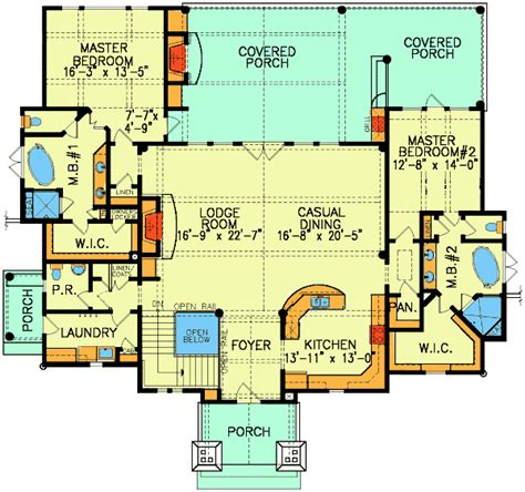 Floor Master House Plans by Plan 15800ge Dual Master Suites In 2019 Dual Master
