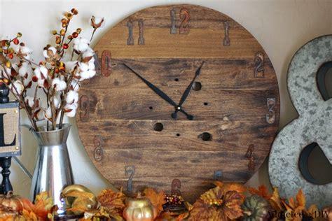 diy rustic refined clock favecraftscom