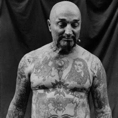 New Tattoos Trend Bald Fat Man With Body Full