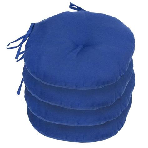 15 in outdoor marine blue bistro chair cushion set