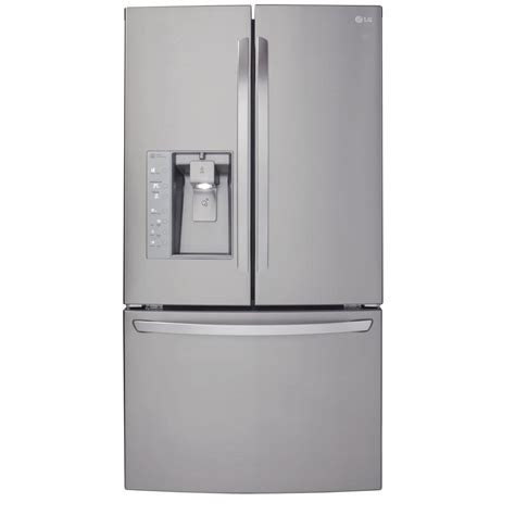 cabinet depth refrigerator lg lfx25991st 24 6 cu ft french door refrigerator