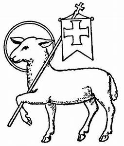 Lamb: symbol of Christ as the Paschal Lamb and also a ...