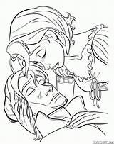 Coloring Pan Frying Rapunzel Tears Defense Tool Tangled sketch template
