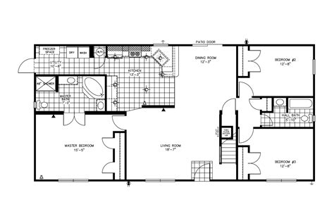 Clayton Homes Commander Floor Plans by Manufactured Home Floor Plan 2009 Clayton Jamestown