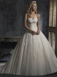 light gold wedding dressesembellished lace ball gown With light gold wedding dress