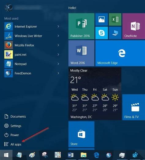 add  remove  apps button  windows  start menu