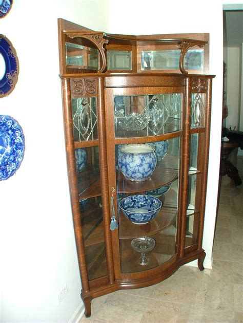 Ebay Oak China Cabinet by Antique American Oak China Cabinet