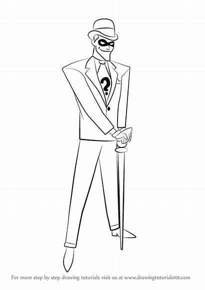 Riddler Draw Drawing Step Dc Comics Characters