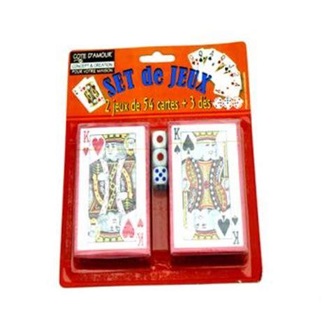 juex de cuisine 2 jeux de carte 3 des destockage lot de juex de carte