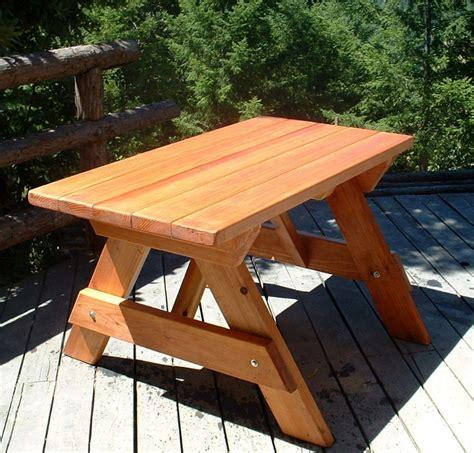 wood picnic tables built   decades