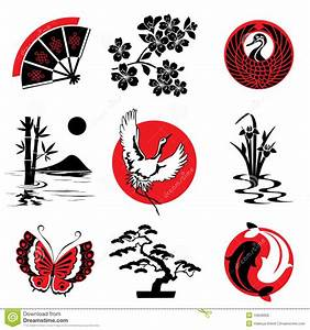 Japanese design stock vector. Illustration of black, leave ...