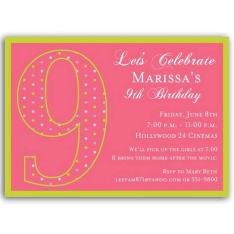 birthday girl dots invitations paperstyle