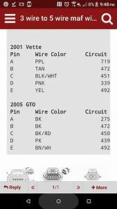 2004 Gto Maf Questions - Ls1tech