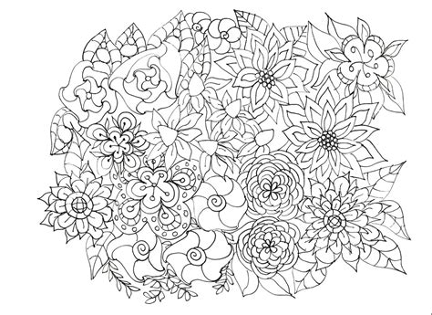 Adult Coloring Pages Flowers Plants Garden Etsy
