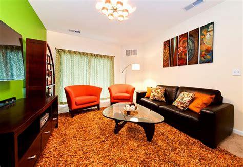 Orange Brown Living Room Accessories