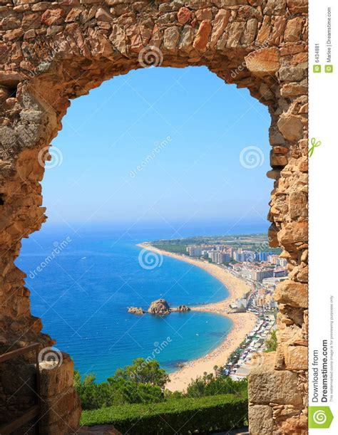 Blanes View Costa Brava Spain Stock Image Image Of