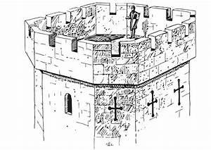 Malvorlage Burgturm