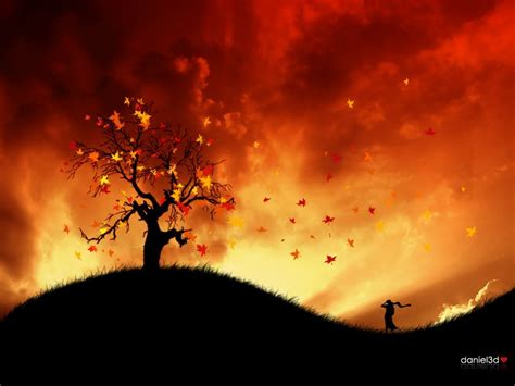 abstract wallpaper autumn  fire