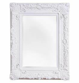 Spiegel Mit Weißem Rahmen : nice spiegel mit wei em barock rahmen ~ Indierocktalk.com Haus und Dekorationen