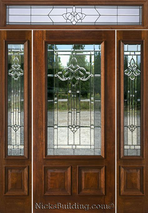 exterior front doors mahogany exterior doors with sidelights and transoms 68
