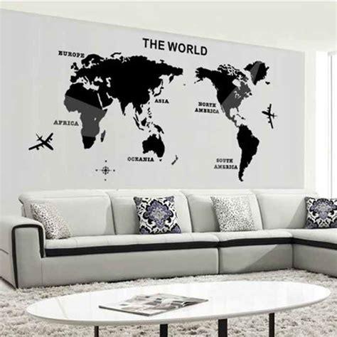 world map mirror wall stickers art background wall