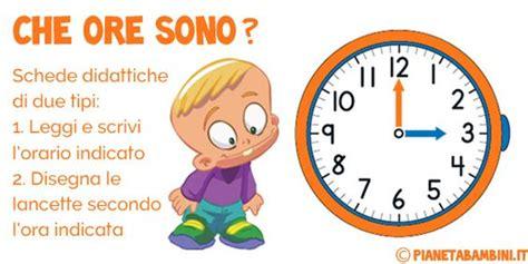 imparare a leggere l orologio schede didattiche ed esercizi pianetabambini it imparare a leggere l orologio schede didattiche ed esercizi didattica per bambini pinterest