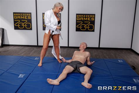 Tanned Karate Teacher With Huge Melons Fucks Her Student