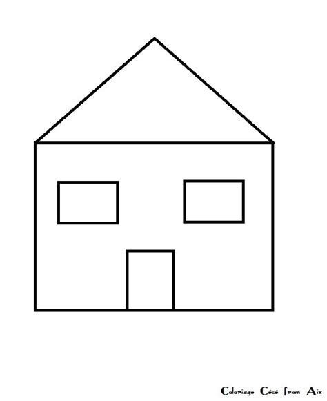 dessin maison a imprimer coloriage maison jardin