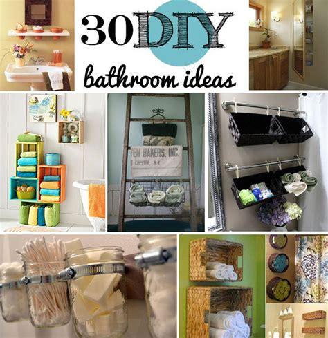 bathroom decorating ideas diy 30 brilliant diy bathroom storage ideas