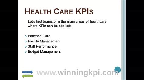 health care kpis  youtube