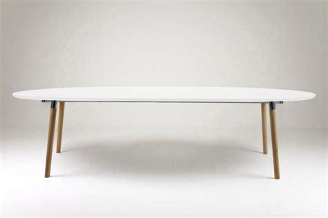 bureau bois metal table extensible de style scandinave blanc et bois hellin