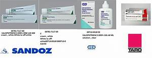 Calcipotriene 0.005% Cream 60gm by Sandoz Pharma 5/18 Calcipotriene Skin Cream or Ointment