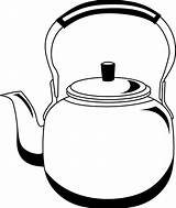 Kettle Clipart Tea Pages Kettles Cliparts Clip Clipground Pot Teapot Coloring Sketch Library Stove Template Steam Templates sketch template