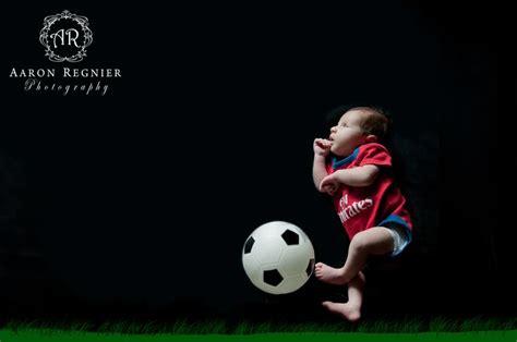 baby boy photography soccer ball newborn aaron regnier