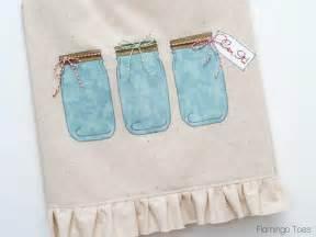 kitchen towel craft ideas jar dish towel pattern allfreesewing