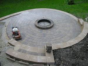 How large of a patio firepit area lawnsite for Fire pit patio size
