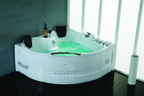 vasche da bagno doppie vasca idromassaggio 155x155 con cromoterapia biposto va14