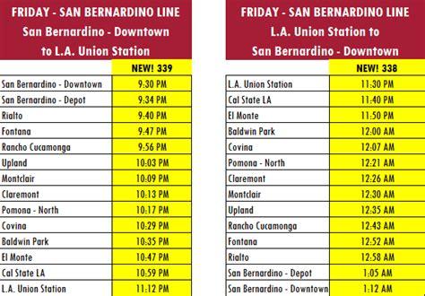 san bernardino  late night trains