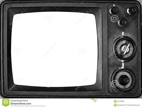 Tvs Classic Backgrounds by Vintage Tv With Isolated Screen Stock Illustration
