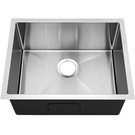 decor sinks y decor hardy undermount stainless steel 20 in single bowl kitchen sink hagrr2520c the home depot
