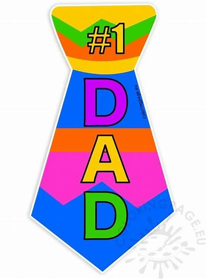 Dad Clipart Tie Father Fathers Coloring Total