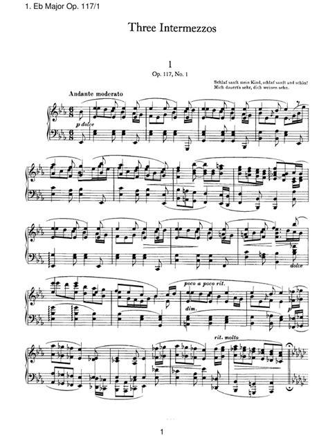 op 117 no 1 intermezzo free sheet music by brahms pianoshelf