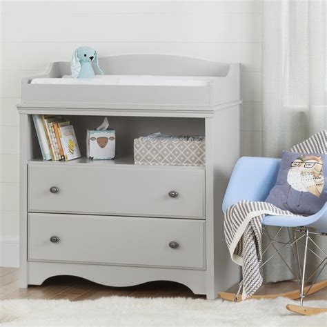 grey changing table with drawers south shore savannah 2 drawer pure white changing table
